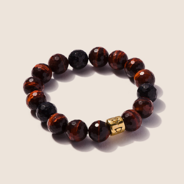 Red Tigers Eye with Moon Stones