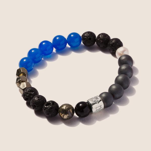 Signature Bracelet Blue Agate